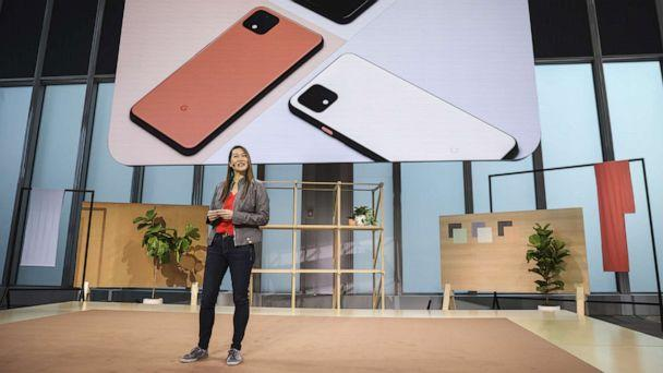 PHOTO: Sabrina Ellis, Google vice president of product management, introduces the new Google Pixel 4 smartphone during a Google launch event, Oct. 15, 2019, in New York. (Drew Angerer/Getty Images)