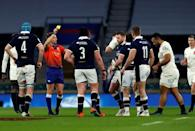 England's number 8 Billy Vunipola paid the price for persistent English ill discipline with a yellow card as the Scots unsettled the hosts from the start of their 11-6 win at Twickenham