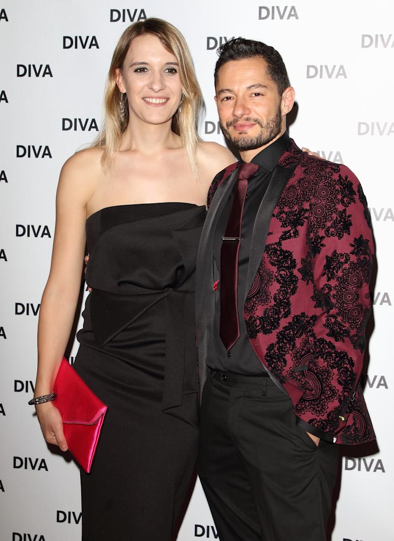 Jake Graf and Hannah Winterbourne at the DIVA Magazine Awards at the The Waldorf Hilton, Aldwych, London (Photo by Keith Mayhew / SOPA Images/Sipa USA)