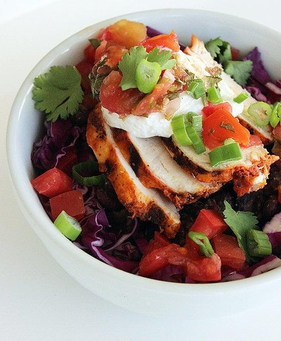 "<p>This burrito bowl is jam-packed with goodness such as chicken, salsa, and cheese, totaling up to 350 grams of protein for after your workout. </p> <p><strong>Get the recipe:</strong> <a href=""https://www.popsugar.com/fitness/Healthy-Burrito-Bowl-Recipe-32431275"" class=""ga-track"" data-ga-category=""Related"" data-ga-label=""https://www.popsugar.com/fitness/Healthy-Burrito-Bowl-Recipe-32431275"" data-ga-action=""In-Line Links""> burrito bowl </a></p>"