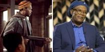 """<p>When Samuel L. Jackson was first cast in <em>Coming to Americ</em>a<em>,</em> he was just getting his footing in the film world, making a brief cameo as the hilarious """"Hold-Up Man"""" who attempted to rob the McDowell's restaurant. Only a few years later, he was making waves in cult classics like Spike Lee's<em> Do the Right Thing</em> and Quentin Tarantino's <em>Pulp Fiction. </em>He became the face of blockbuster hits like <em>Deep Blue Sea, A Time to Kill, </em>and Marvel's cinematic universe, establishing him as one of our generation's greatest actors. </p><p>Although he did not return to the <em>Coming to America</em> franchise, you can catch him in (virtual) theaters later this year with the release of <em>The Hitman's Wife's Bodyguard </em>and <em>Spiral. </em></p>"""