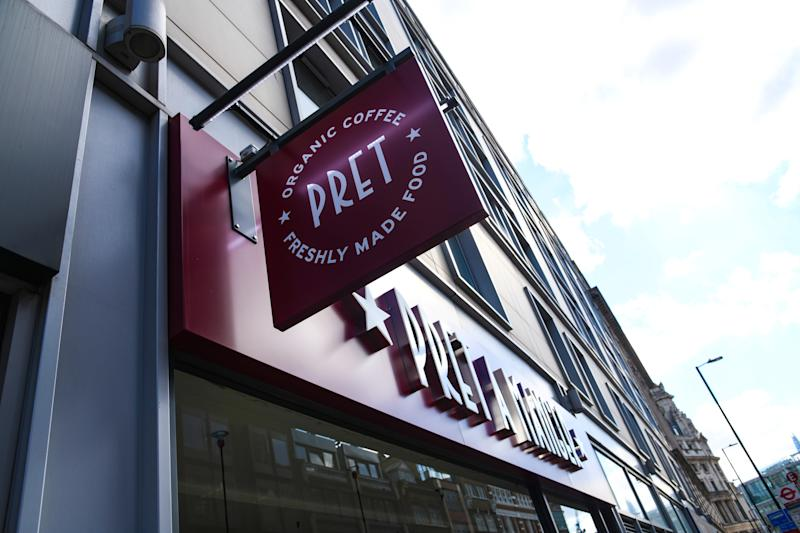 Pret a Manger, City of London. Photo credit should read: Doug Peters/EMPICS