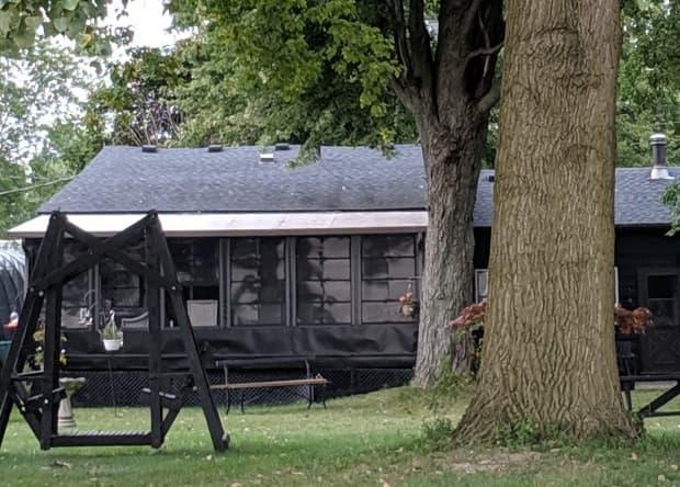 Joan Lentine's cabin on Willow Beach in Amherstburg (Submitted by Joan Lentine - image credit)
