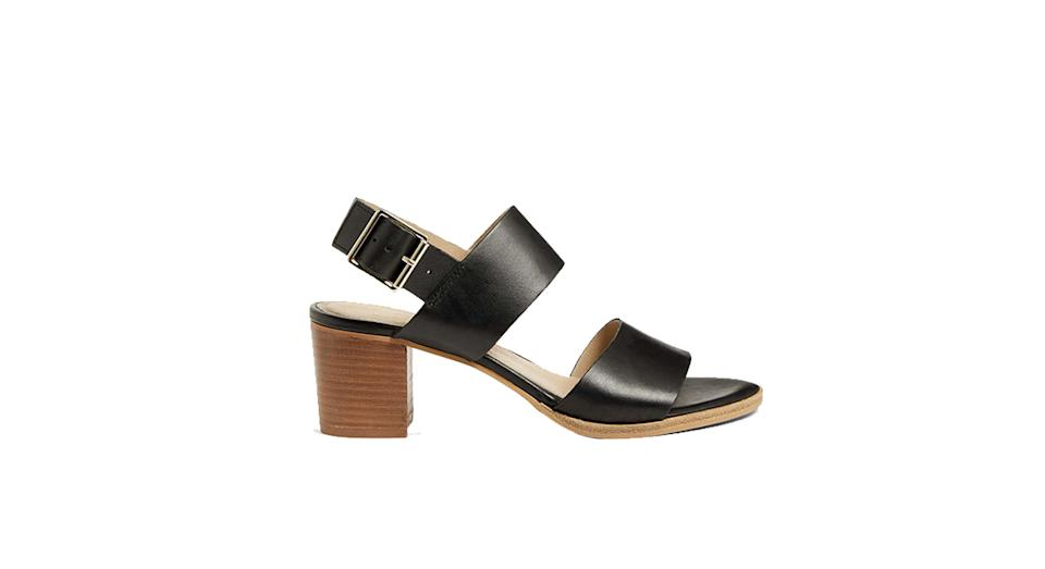 John Lewis & Partners Jessica Leather Stacked Heel Sandals