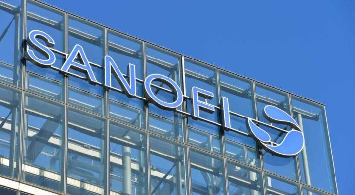 Sanofi (SNY) logo on the side of company branch in Germany