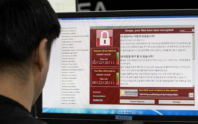 Staff monitor the spread of ransomware cyber-attacks at the Korea Internet and Security Agency (KISA) in Seoul  - AFP