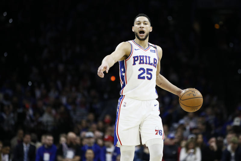 76ers coach Brown says Embiid, Simmons healthy for restart