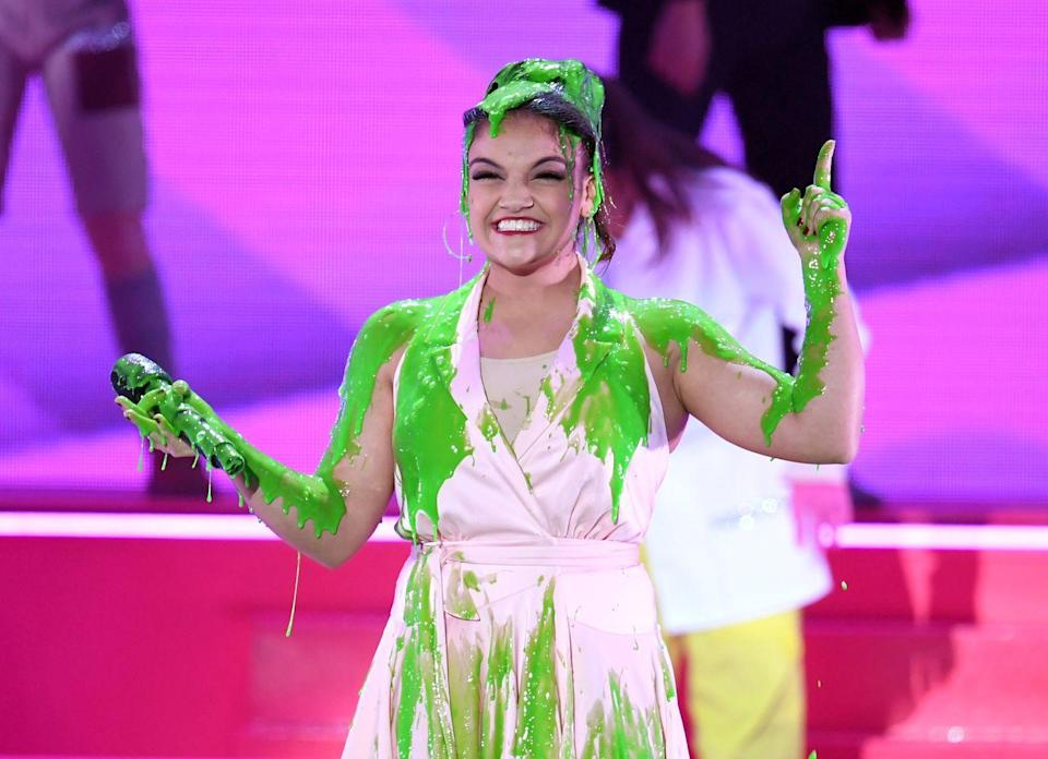<p>Clearly Laurie was dressed by the same devious slime stylist.</p>