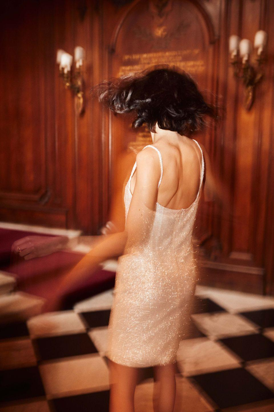 """<p>For lots of brides, next year is about the party, after getting hitched 'officially' this year in smaller settings. This often means a second outfit that fits more with a party dress-code than anything too formal. <br></p><p>""""There's been no parties for a year – people are desperate for a night out,"""" Kaye at The Own Studio says. """"Satin slips and sequin minis are our top requests for second event party looks, with a tuxedo jacket worn over the shoulder in a nonchalant, relaxed way."""" </p><p>Williams agrees: """"It's so interesting to see how brides and grooms have adapted and found a workaround of having a small wedding this year and a party next year. It's worked well for many people as it's enabled them to spread the fun and joy and sense of occasion into two events.""""</p>"""