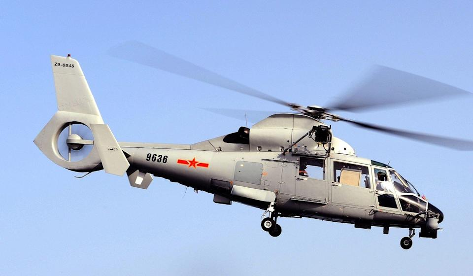 A Harbin Z-9C helicopter is based on an older French model. Photo: Wikipedia