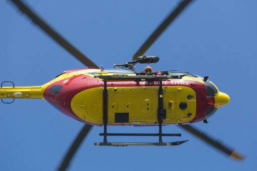 An emergency services Eurocopter EC145 Dragon helicopter similar to the one that crashed in southern France