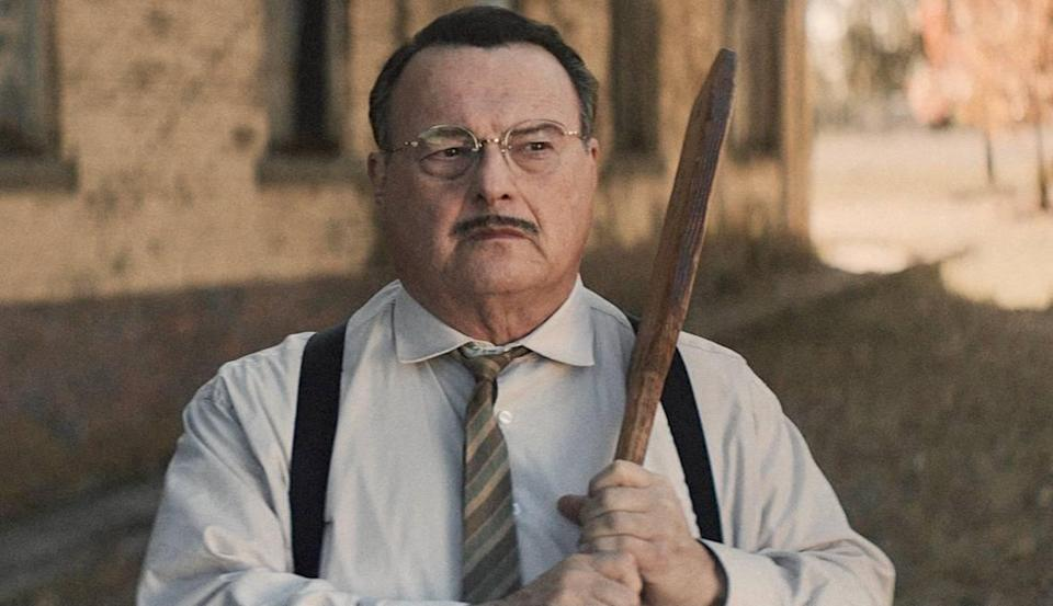 """Actor Wayne Knight, known for his role on TV's """"Seinfeld,"""" plays a sadistic principal in """"12 Mighty Orphans."""""""