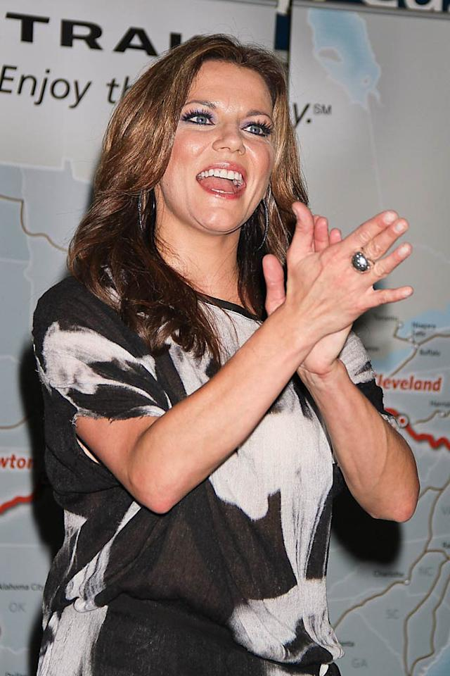Country star Martina McBride surprised commuters making their way through New York City's Penn Station Friday morning with a live performance.  Roger Wong/INFDaily.com - October 13, 2011