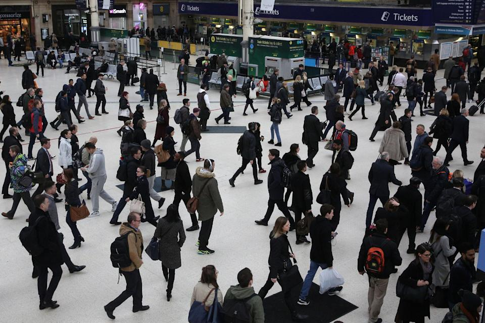 <p>Victoria Station </p> (Daniel Leal-Olivas/AFP/Getty Images)