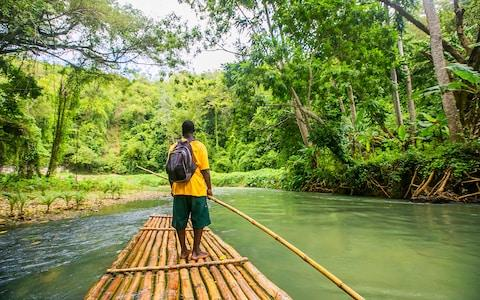 Bamboo Rafting on the Martha Brae River in Jamaica - Credit: iStock