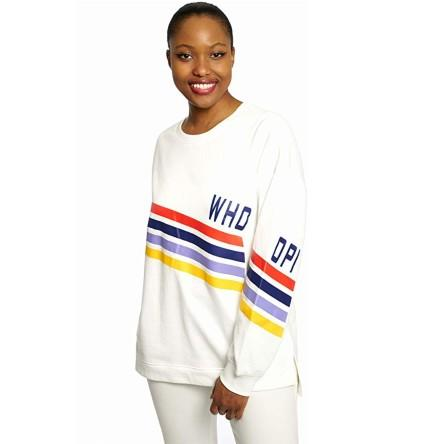 Dubgee By Whoopi Stripes Sweatshirt. (Photo: Amazon)