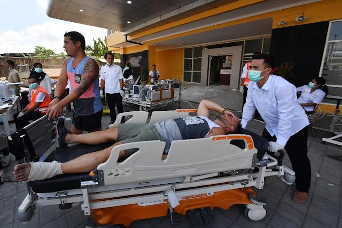 Foreign tourists were among those injured on Lombok and the nearby Gili islands (AFP Photo/ADEK BERRY)