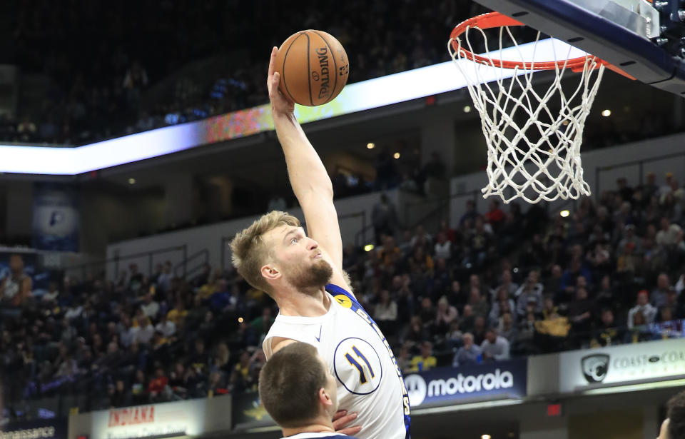 Domantas Sabonis is a bona fide All-Star, but the Pacers need Victor Oladipo to be a superstar again. (Andy Lyons/Getty Images)