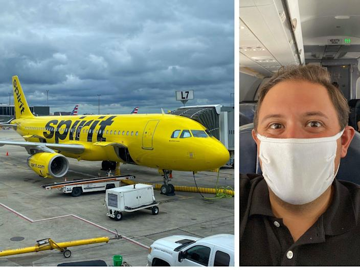 Flying on JetBlue Airways and Spirit Airlines during the COVID-19 pandemic.