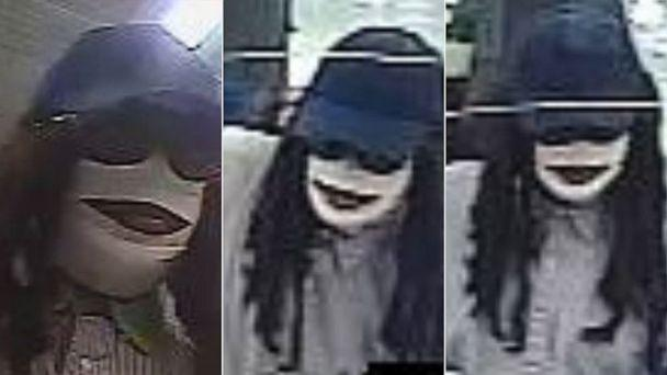 PHOTO: In these screen grabs obtained by the FBI and posted to their Facebook account, a suspect is dressed like a mummy during a robbery. (FBI Houston/Facebook)