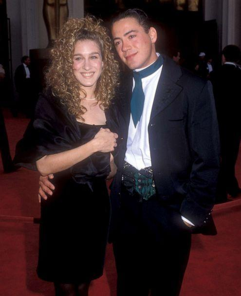 PHOTO: Sarah Jessica Parker and Robert Downey Jr. arrive for the 61st Annual Academy Awards at the Shrine Auditorium in Los Angeles, March 29, 1989. (WireImage/Getty Images, FILE)