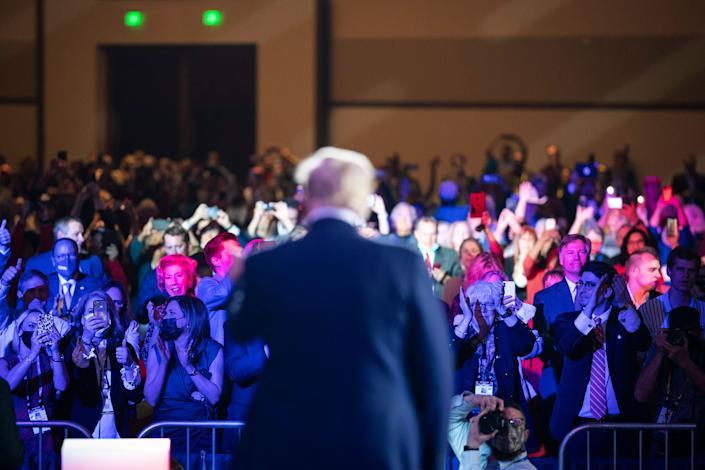 In the weeks between the election and the Jan. 6 Capitol insurrection Trump fundraised claiming the money would let him pursue challenges to the election results and help Republicans hold Georgia's two Senate seats. In the end, he didn't spend the money for either. (Photo: Jabin Botsford/The Washington Post via Getty Images)