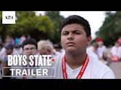 """<p>Politics are chaotic, combative and undertaken by both true believers and amoral schemers—a state of affairs depicted in starkly microcosmic terms by <em>Boys State</em>. Directors Jesse Moss and Amanda McBaine's documentary follows a number of kids as they<a href=""""https://www.esquire.com/entertainment/a33587978/boys-state-documentary-review/"""" rel=""""nofollow noopener"""" target=""""_blank"""" data-ylk=""""slk:make their way through Texas' week-long Boys State program"""" class=""""link rapid-noclick-resp""""> make their way through Texas' week-long Boys State program</a> (sponsored by the American Legion), in which hundreds of teenagers are split into two political parties (Federalists and Nationalists) and asked to create a unified platform and elect officials. The most coveted of those positions is governor, which pits progressively oriented Steven against conservative Eddy in a battle that echoes those being waged in the corridors of Washington, DC power today. Guns, abortion and immigration are the most contentious of the hot-button topics tackled by these would-be representatives, and through their campaigns, what emerges is a portrait of politics as a war defined by personalities, prejudices, fearmongering, and dirty tricks and slander. It's an acute snapshot of the American democratic process as filtered through an alternately inspiring and horrifying <em>Lord of the Flies</em> lens.</p><p><a class=""""link rapid-noclick-resp"""" href=""""https://tv.apple.com/us/movie/boys-state/"""" rel=""""nofollow noopener"""" target=""""_blank"""" data-ylk=""""slk:Watch Now"""">Watch Now</a></p><p><a href=""""https://www.youtube.com/watch?v=E1Kh_T5ZBIM"""" rel=""""nofollow noopener"""" target=""""_blank"""" data-ylk=""""slk:See the original post on Youtube"""" class=""""link rapid-noclick-resp"""">See the original post on Youtube</a></p>"""