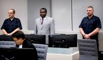 FILE PHOTO: Central Africa Republic soccer executive and alleged militia leader, Patrice-Edouard Ngaissona appears before the International Criminal Court (ICC) in The Hague