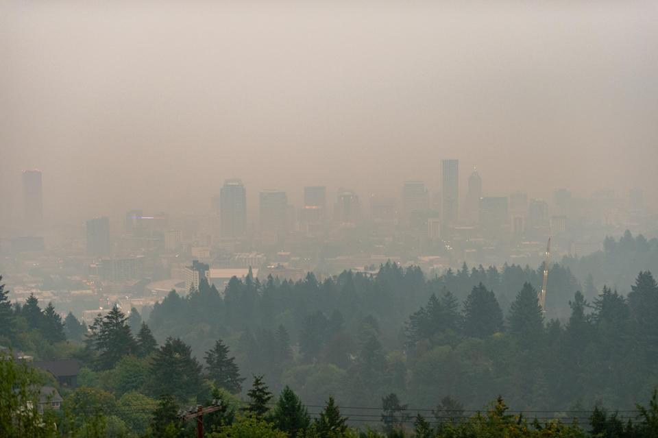 Smoke covers Portland city - getty
