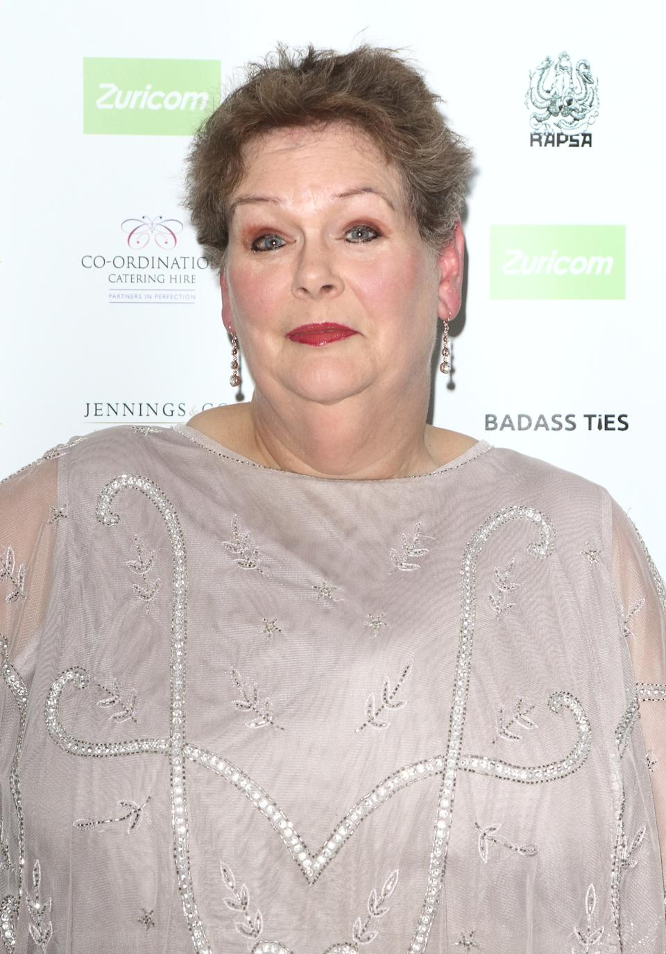 Anne Hegerty arrives at the National Film Awards 2018 at the Porchester Hall (Photo by Keith Mayhew / SOPA Images/Sipa USA)