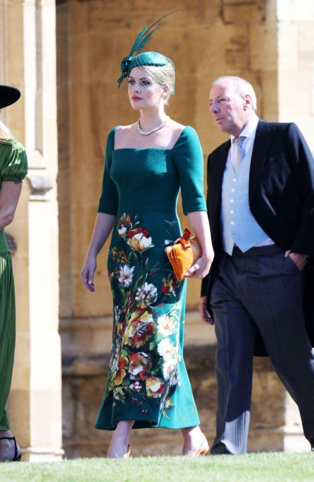 Lady Kitty Spencer was a guest at cousin Prince Harry and Meghan Markle's royal wedding. (Photo: Getty)