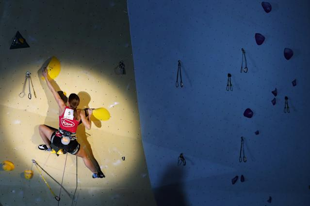 Bouldering, lead and speed climbing will be competed by both men and women. (Credit: Getty Images)