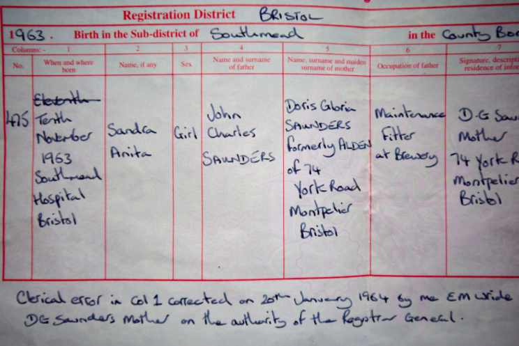 Wrong day: Sanda Blackman's birth certificate may not be accurate (SWNS)