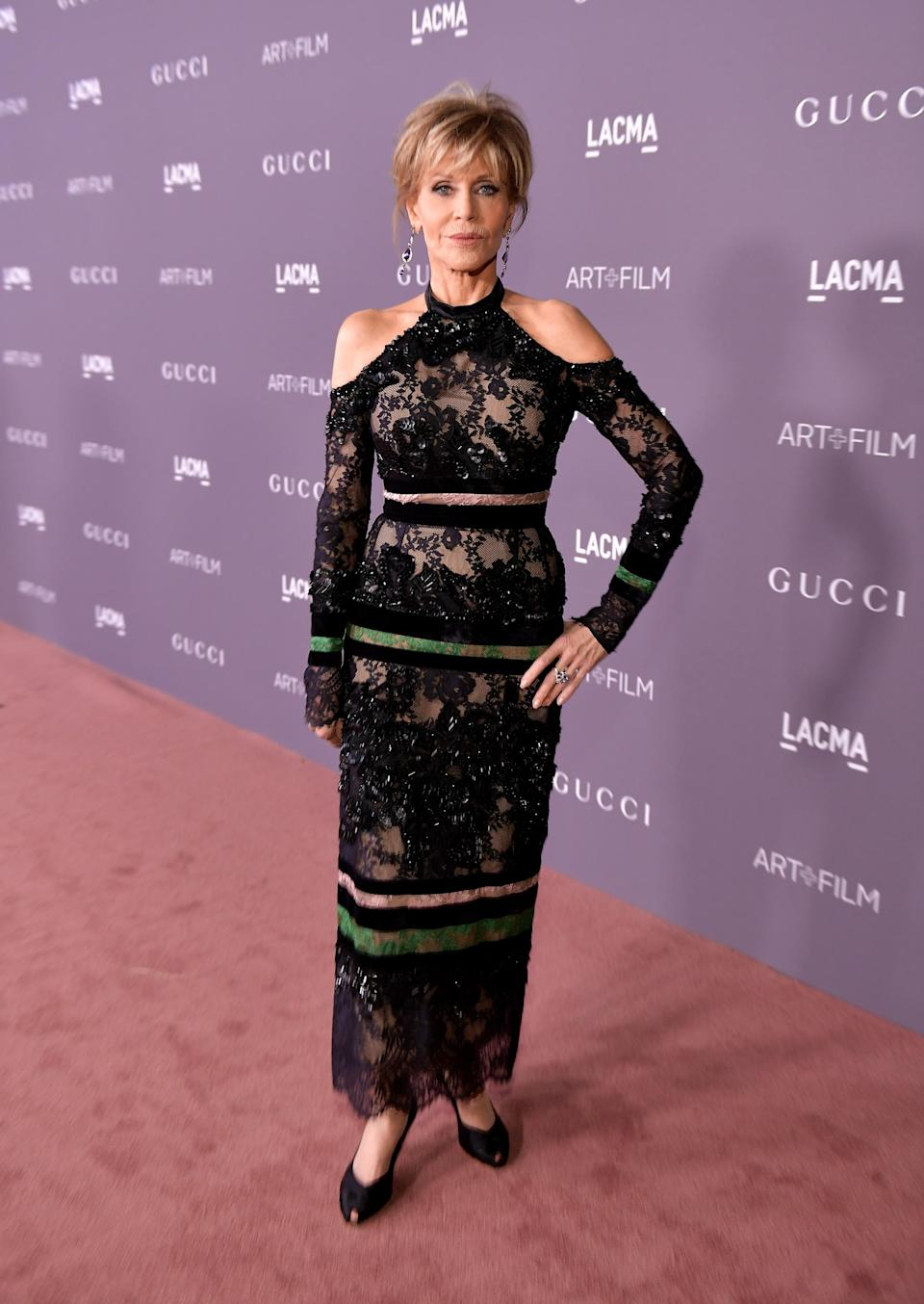 Jane Fonda attends the 2017 LACMA Art + Film gala honoring Mark Bradford and George Lucas on Nov. 4, in Los Angeles. (Photo: Getty Images)
