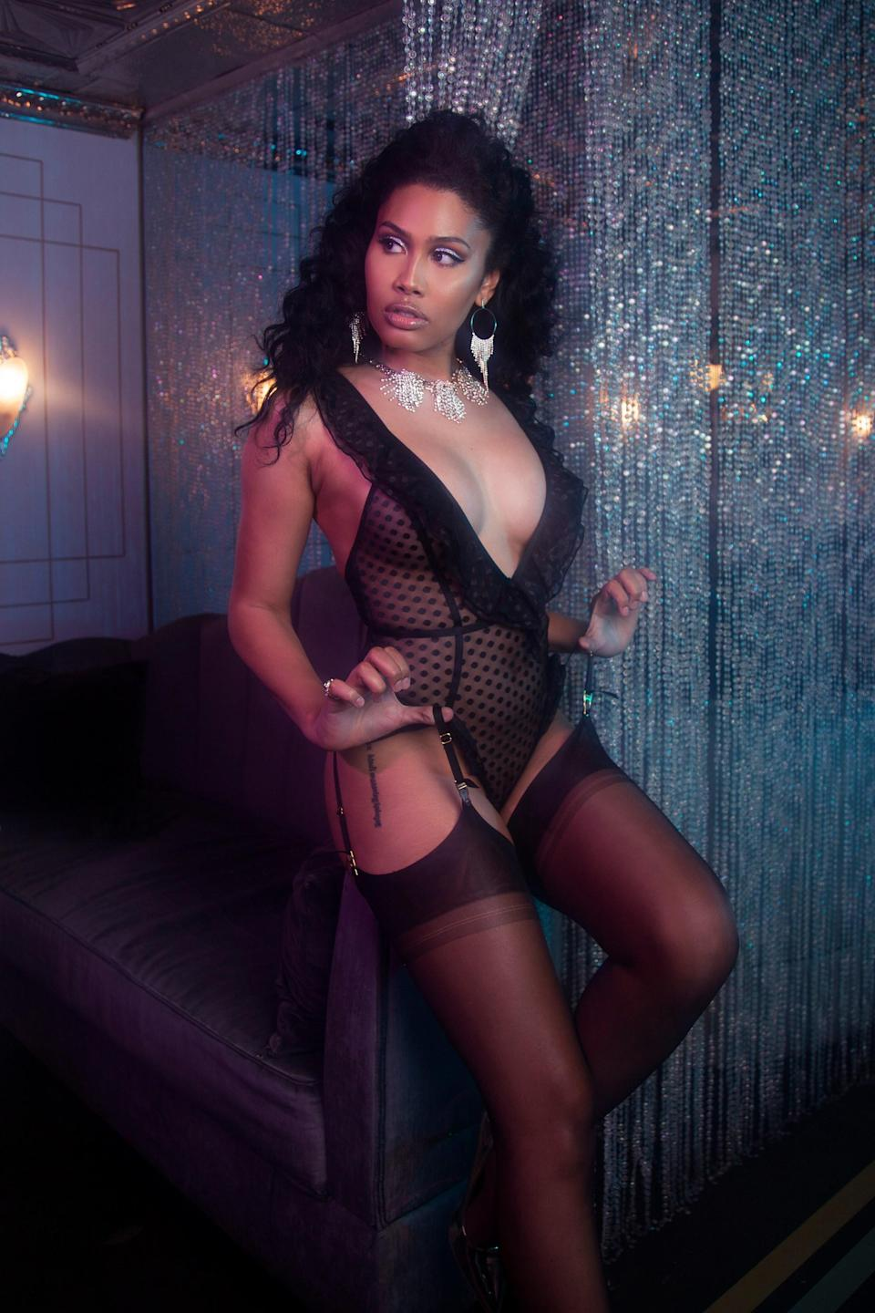 Leyna Bloom campaigned to be the first trans model to appear on a certain televised runway. Now she's the face of Playful Promises' new lingerie campaign.