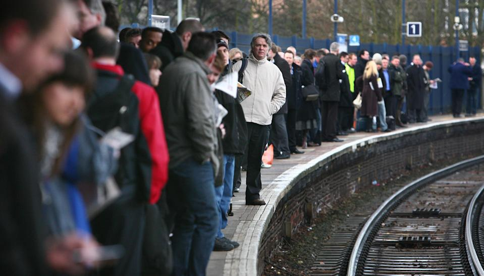 <em>Train punctuality is also on the slide, according to the figures (Picture: PA)</em>
