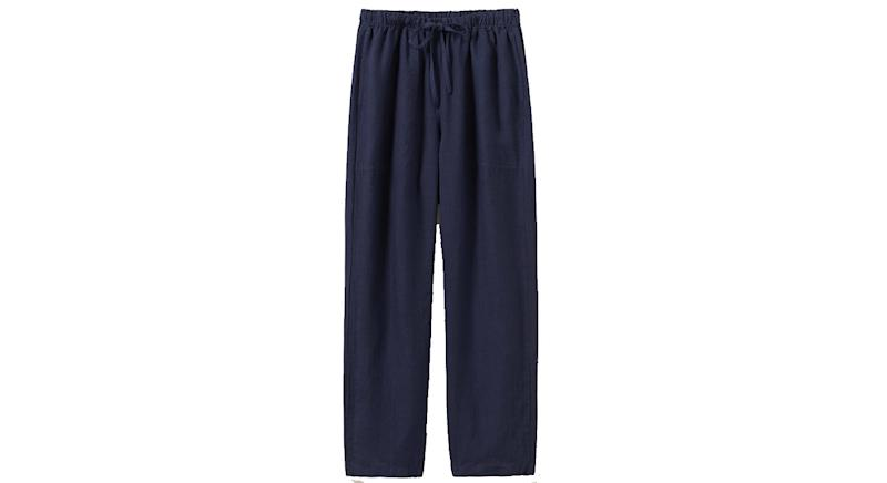 Garment Dyed Linen Trousers