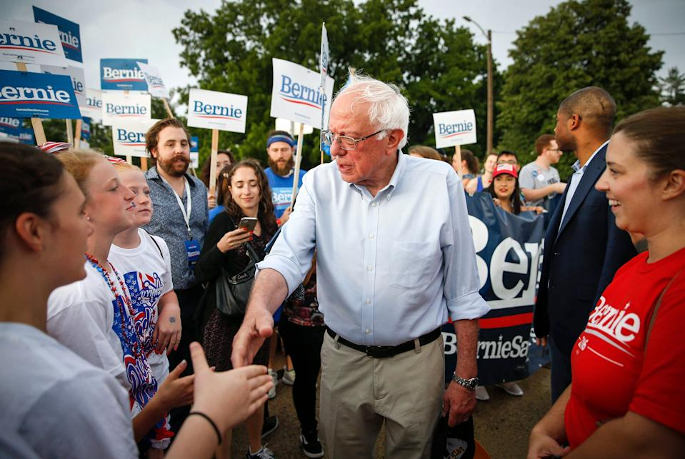 Bernie Sanders defended his campaign's compensation package after an article highlighted concerns that staffers weren't receiving the $15-an-hour wage he champions.