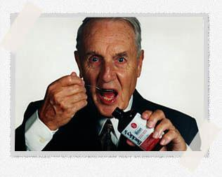 <p>President and spokesperson of Buckley's cough syrup, Frank Buckley, died on Feb. 1, 2016 at 94. Photo from www.buckleys.ca </p>