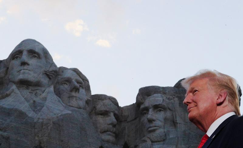Trump in front of Mount Rushmore at South Dakota's Independence Day event: Reuters