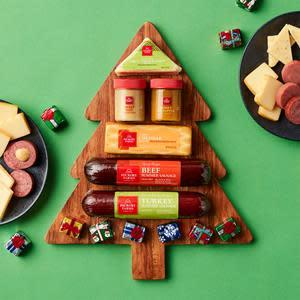 Hickory Farms Christmas Tree Board Gift Set