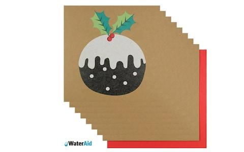 PaperchasePudding Charity Christmas cards Pack of 8 - Credit: Paperchase