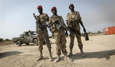 SPLA soldiers secure Bor airport