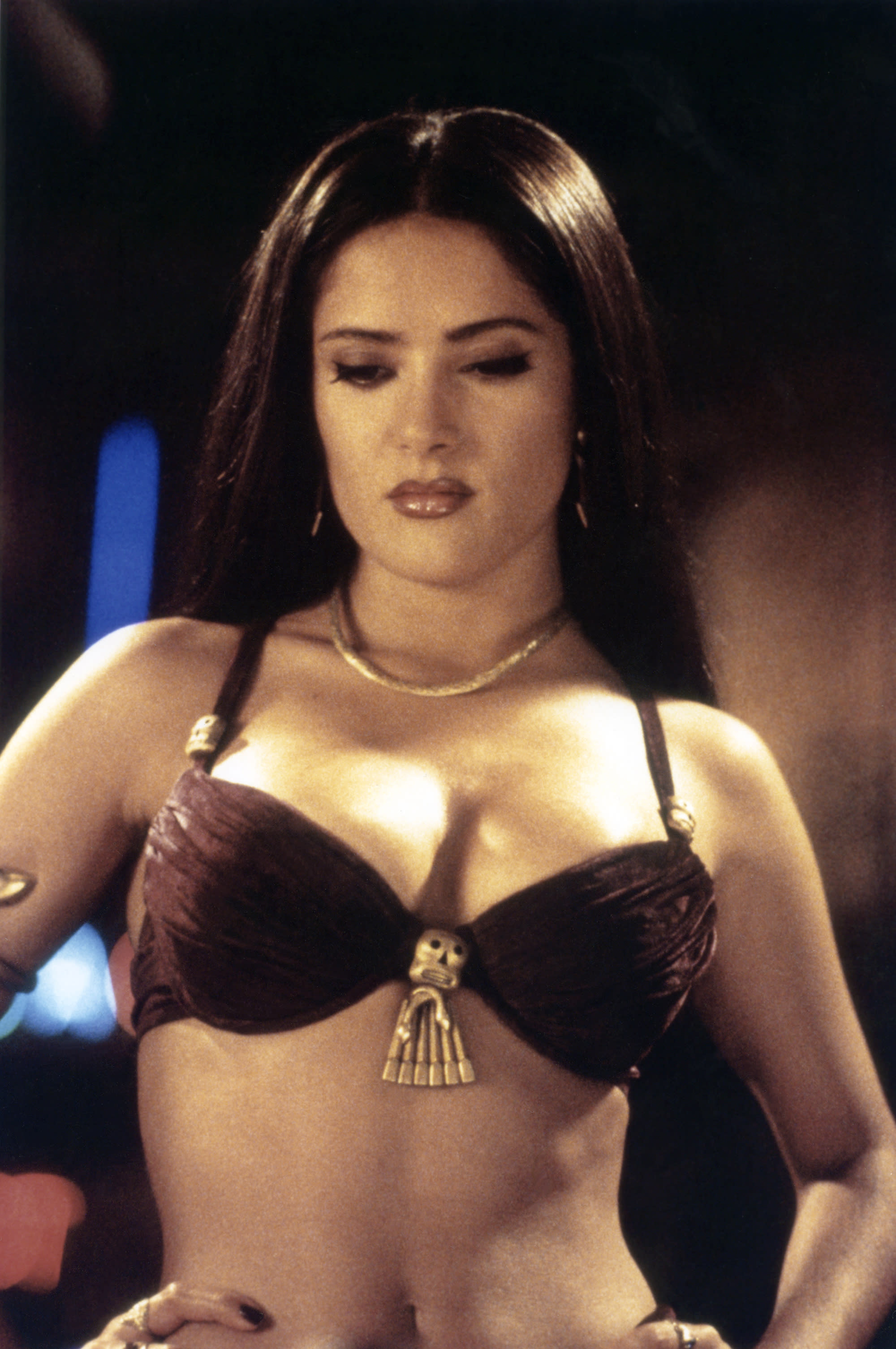 Salma Hayek on the set of