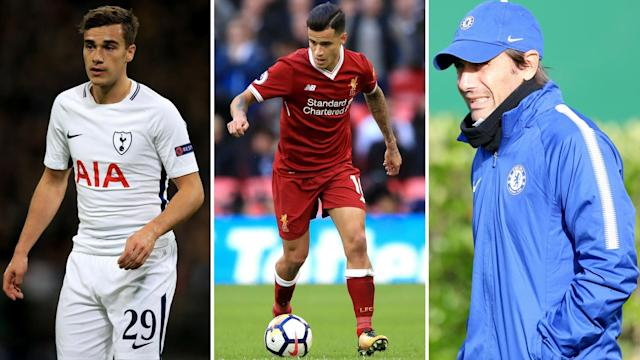 Harry Winks is a Barclona target, Real Madrid now fancy Coutinho while Conte is living on borrowed time