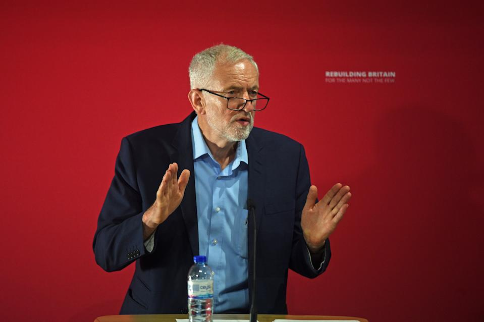 Labour leader Jeremy Corbyn during the International Social Forum hosted by the Labour Party at the SOAS University of London in central London.