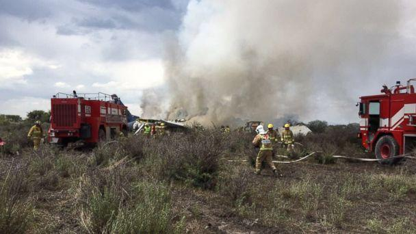 PHOTO: An accident has been reported at the Guadalupe Victoria Airport in Durango, Mexico. There are no official figures on injured or deceased. (Durango Civil Protection)