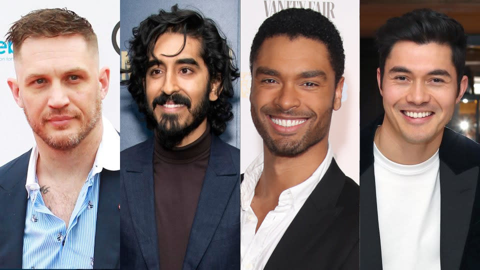 Tom Hardy, Dev Patel, Regé-Jean Page and Henry Golding could be in the frame to play James Bond. (Credit: Dave Benett/Charles Sykes/Invision/AP/Mike Marsland/WireImage/Jerritt Clark/Getty)