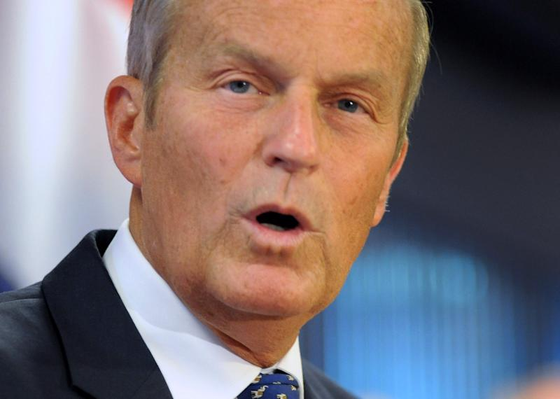 FILE - In this Aug. 24, 2012, file photo Republican Rep. Todd Akin, R-Mo., talks to the media gathered in Chesterfield, Mo., and told them he will stay in the U.S. Senate race despite the uproar over his remarks about rape and pregnancy. Akin's comments awakened the ever-slumbering tensions between the Republican Party's two core wings: social conservatives and corporate interests just as Republicans were hoping for a united front at their convention to nominate Mitt Romney for president. (AP Photo/Sid Hastings, File)