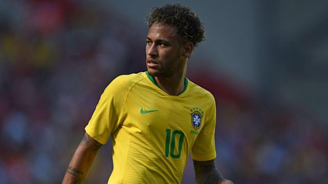 The PSG star lines up alongside Willian and Gabriel Jesus in attack as the Selecao start a quest for global glory against Switzerland